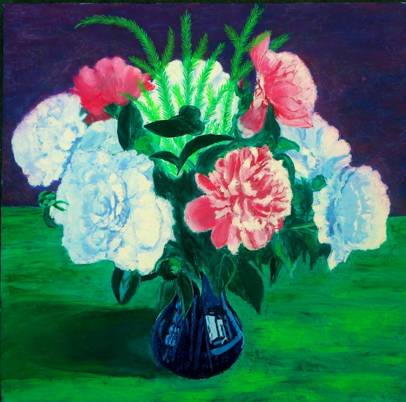 Stilleben, Pfingstrosen in Vase
